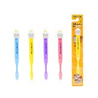 Зубная щетка для детей с 5 лет с анатомической ручкой EQ MashiMaro Kids, мягкая